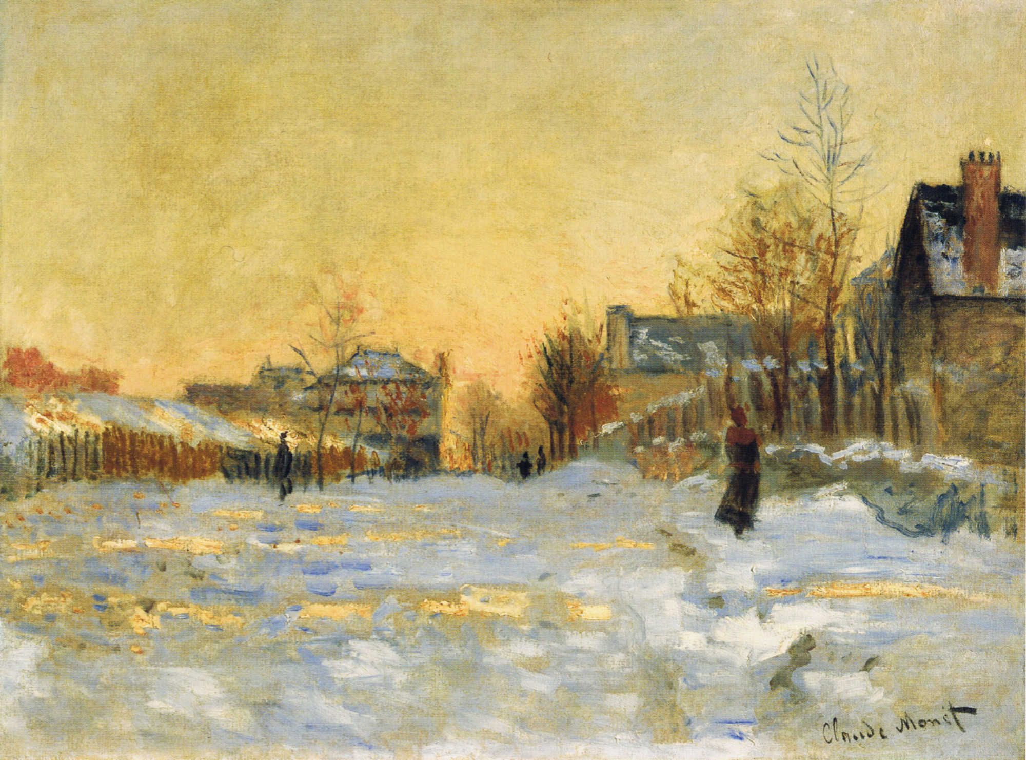 It's a four letter word that's on everyone's mind right now: Snow! We're  reading about it blistering across the North… | Artist monet, Claude monet  art, Monet art
