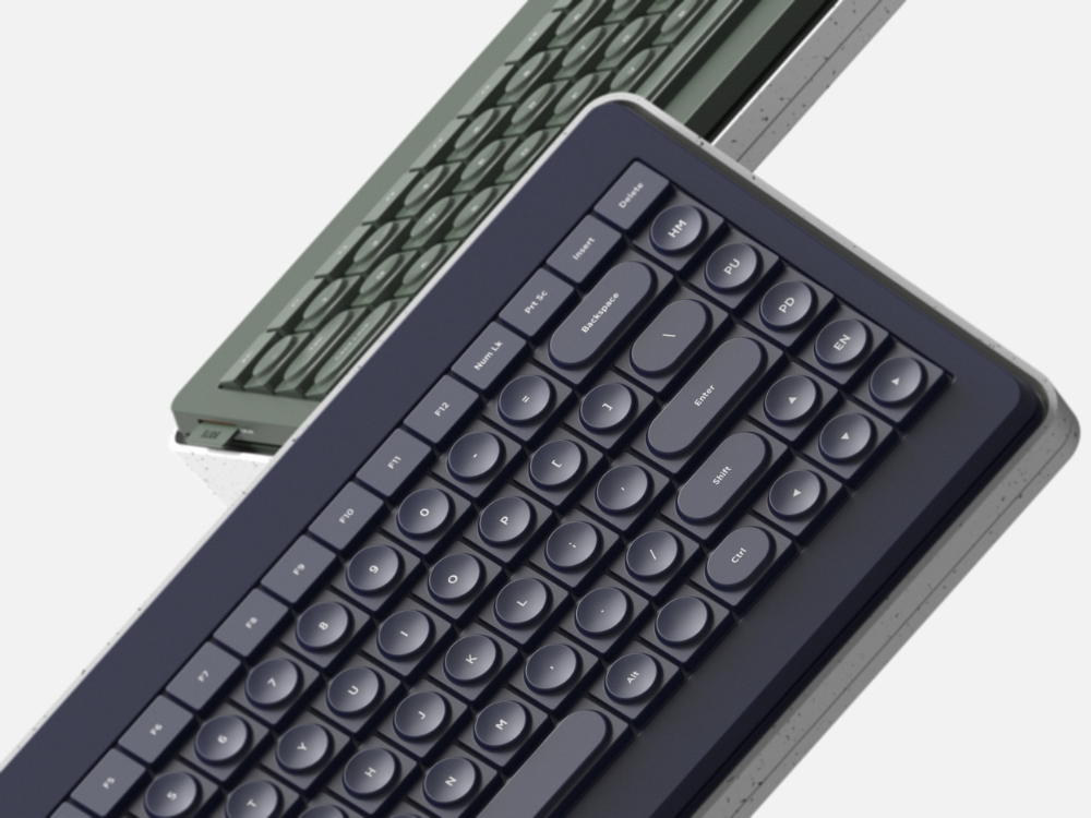 Slide Into a Space Saving Keyboard Design for the Desk