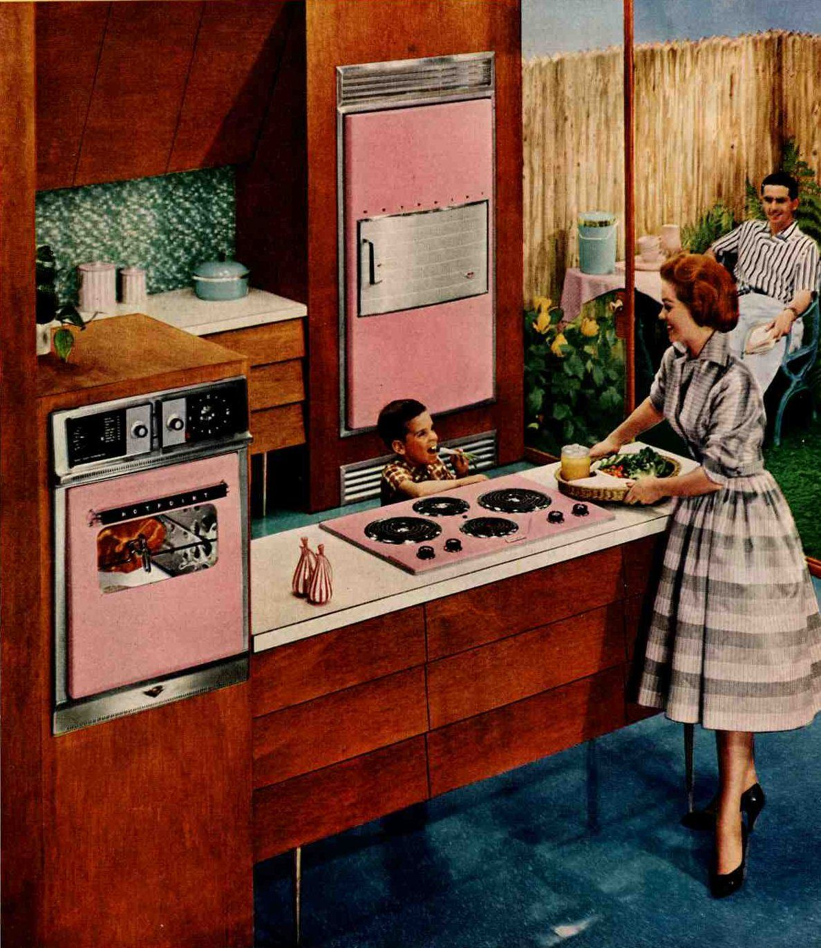 Retro Style Kitchen 1960s Inspiration Kitchens Kitchen Mid Century Modern