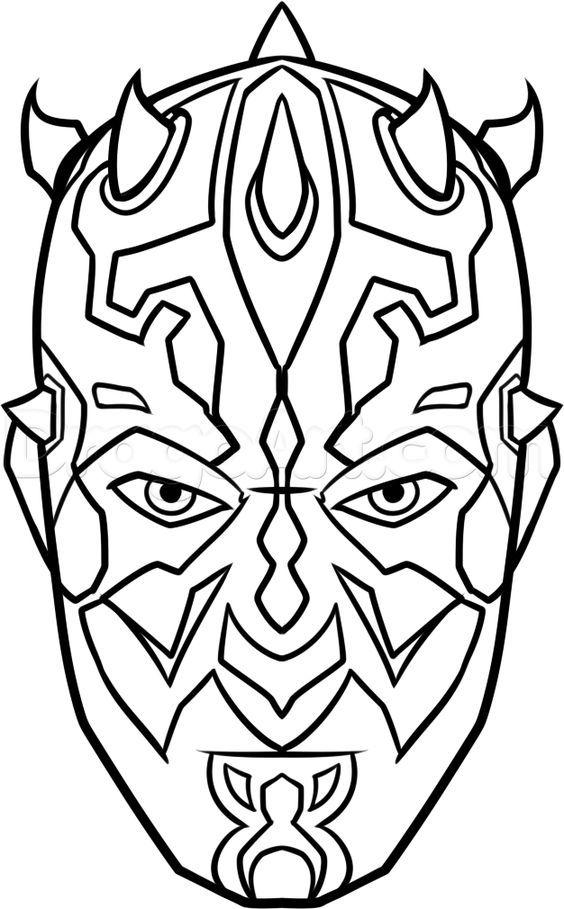 How To Draw Darth Maul Easy Step 8 Star Wars Characters Drawings Star Wars Drawings Star Wars Painting