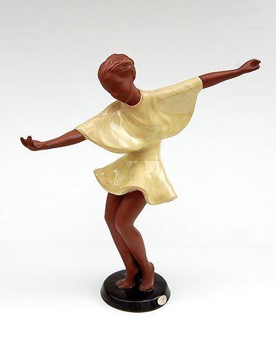 Found on www.botterweg.com - Earthenware sculpture Getanzte Harmonie design Josef Lorenzl ca.1941 executed by Goldscheider Wien / Austria