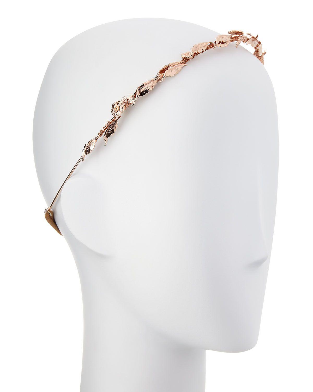 Laurel Leaf Headband, Rose Golden