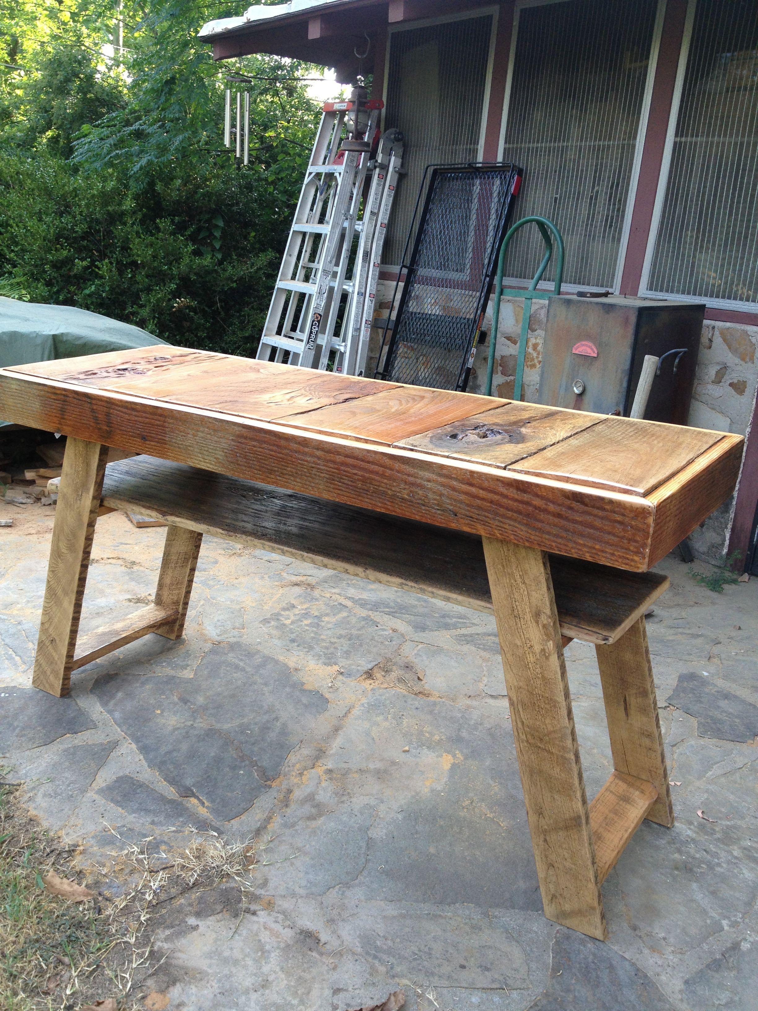 Up cycled barn wood table
