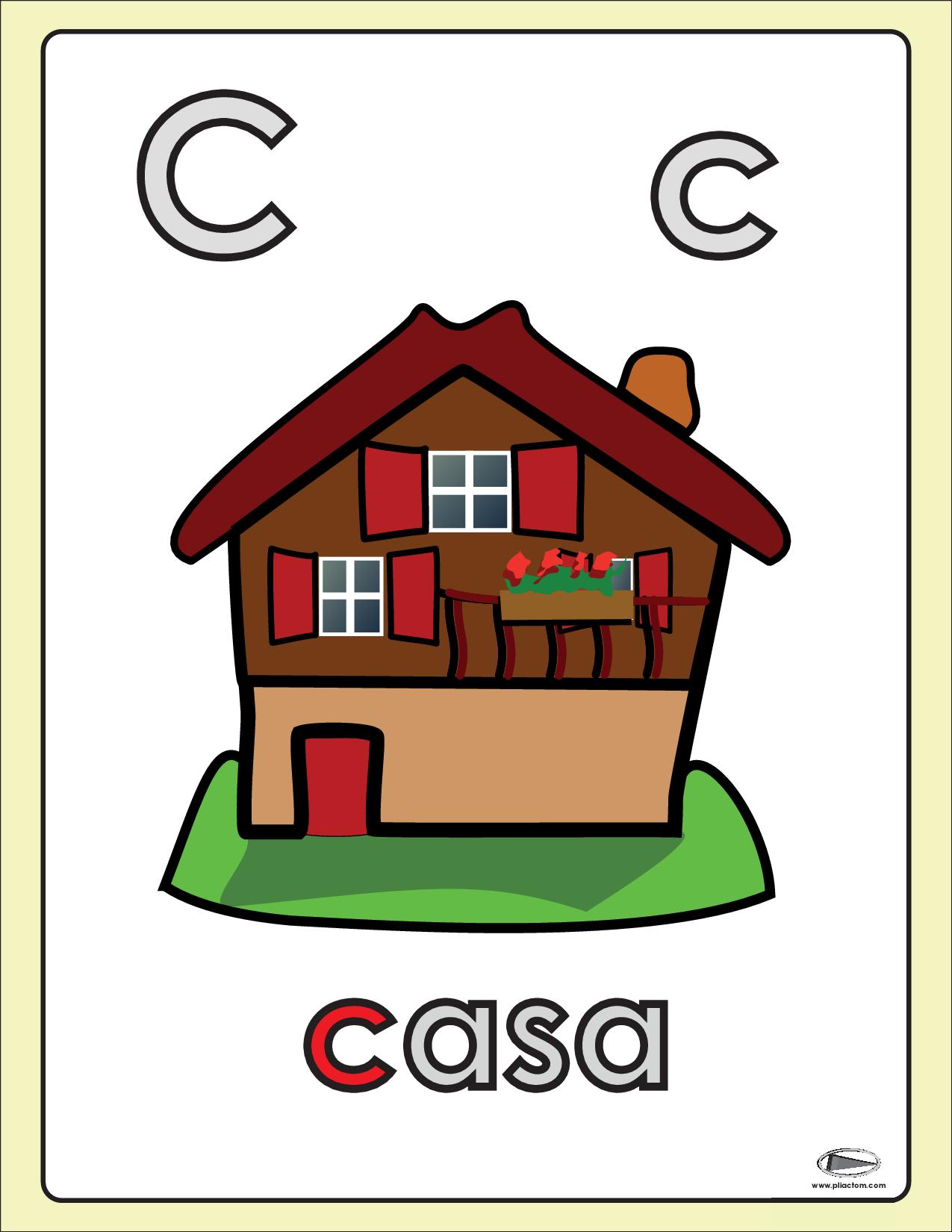 Letra C De Casa Letra C Letras Imagenes Educativas