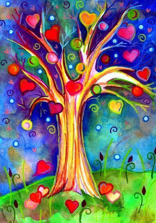 Love Love Love Malerier Laerred Maleri Tegninger