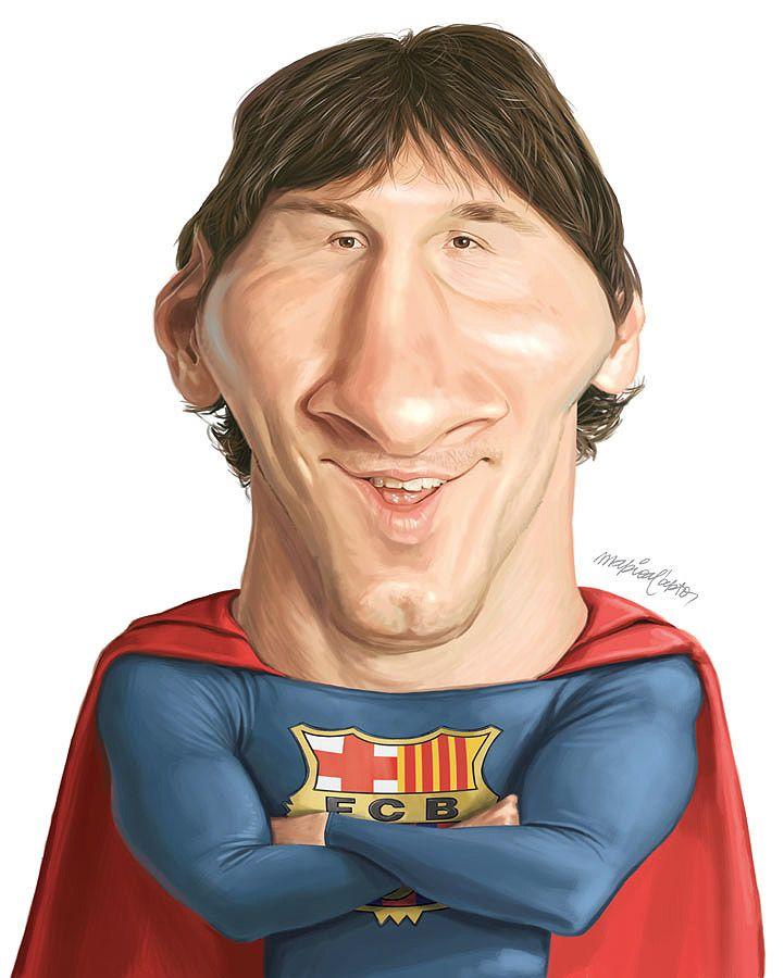 Caricatura De Messi Celebrity Caricatures Funny Caricatures Caricature