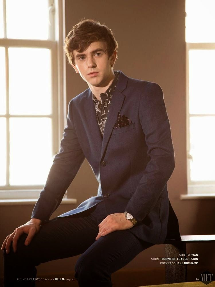 freddie highmore para bello magazine diciembre 2014 freddie highmore c l brit s y anglais. Black Bedroom Furniture Sets. Home Design Ideas