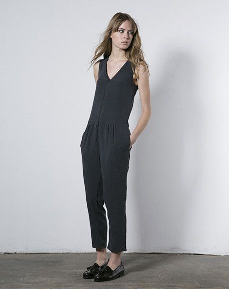 8618b01ae4b Objects Without Meaning Neve Jumpsuit in Coal via Covet + Lou ...