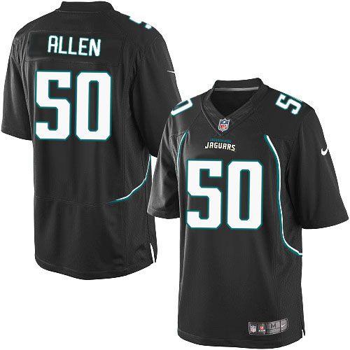 Men's Nike Jacksonville Jaguars #50 Russell Allen Limited Black Alternate NFL Jersey Sale