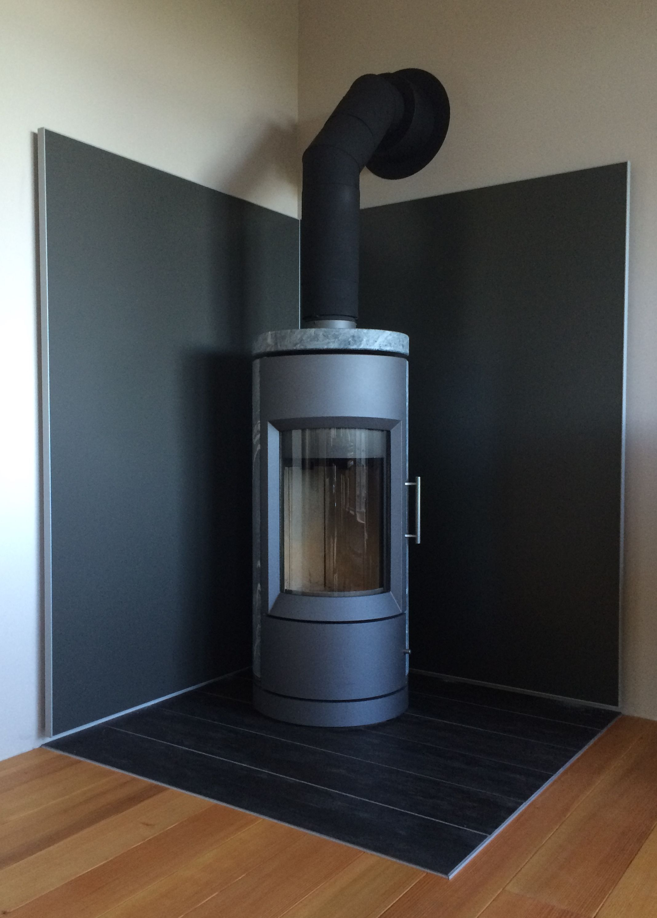 Smoke Grey and Silver frame. This wall shield provides a non ...