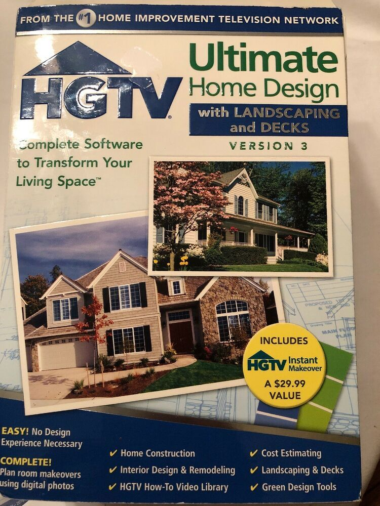 Hgtv Ultimate Home Design With Landscaping And Decks Software Version 3 Windows Ebay House Design Home Construction Cost Hgtv