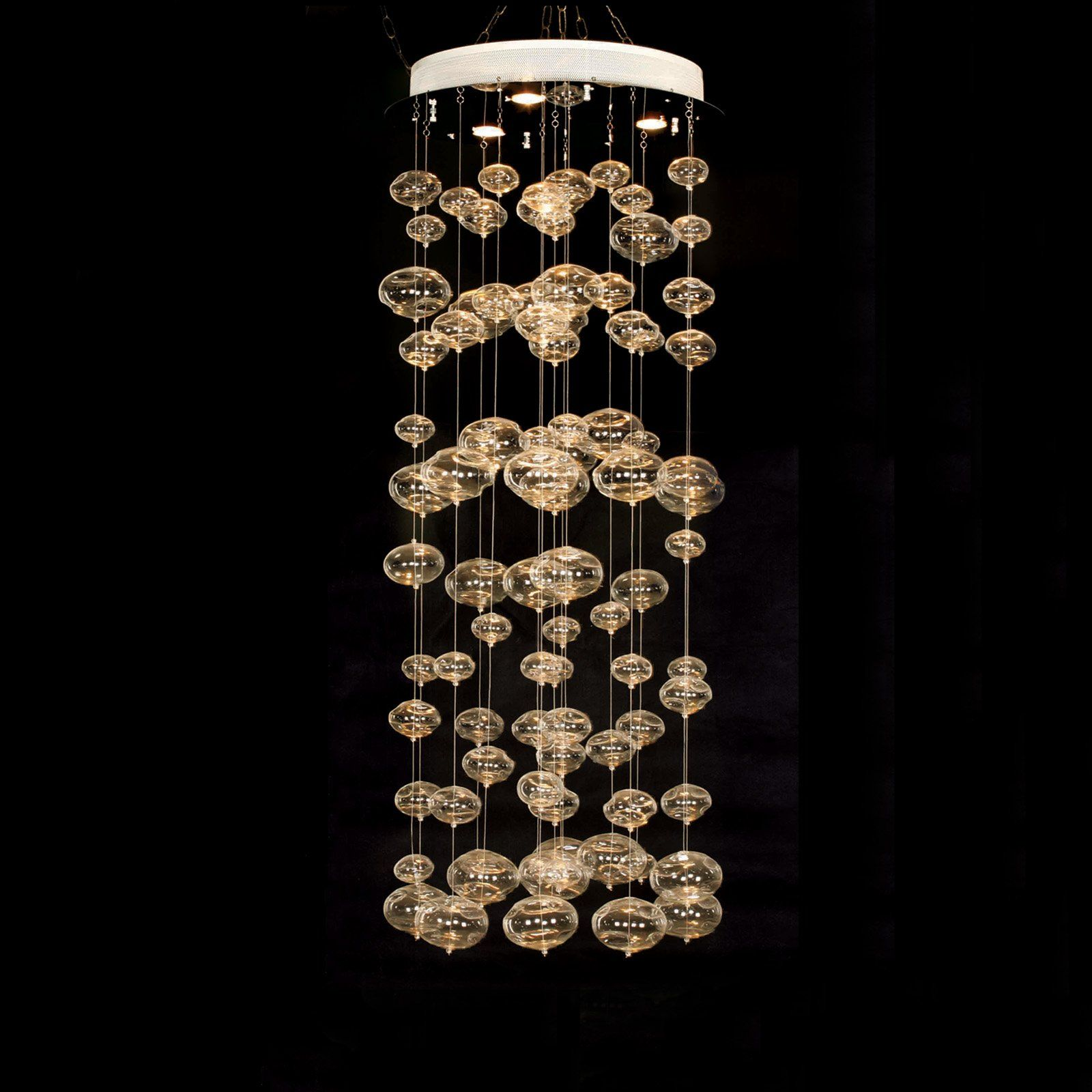 Dining room chandelier.  23.75 in. Jellyfish Pendant Light.