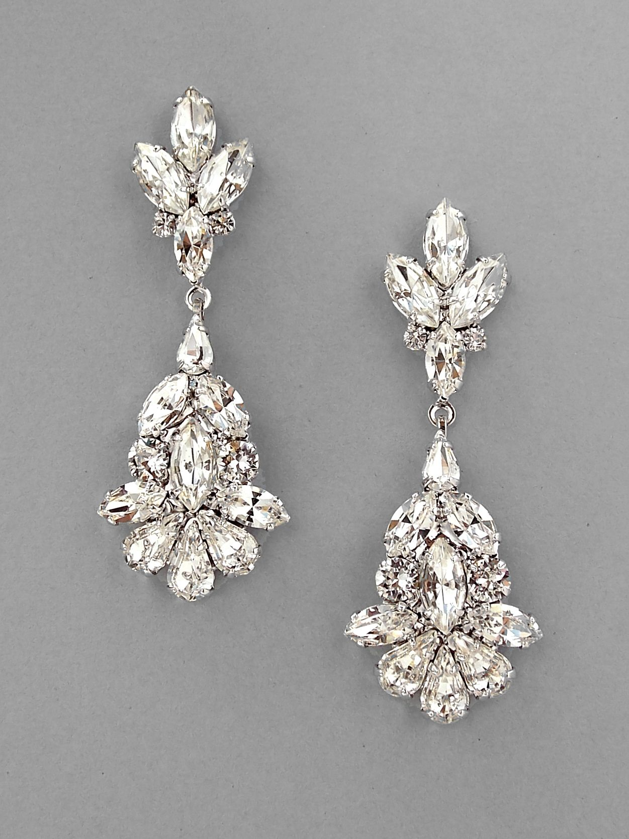 Camille chandelier crystal teardrop earrings compliments bridal jewelry including wedding earrings bracelets necklaces and hair accessories created with swarovski crystals pearls and silver rhodium arubaitofo Images