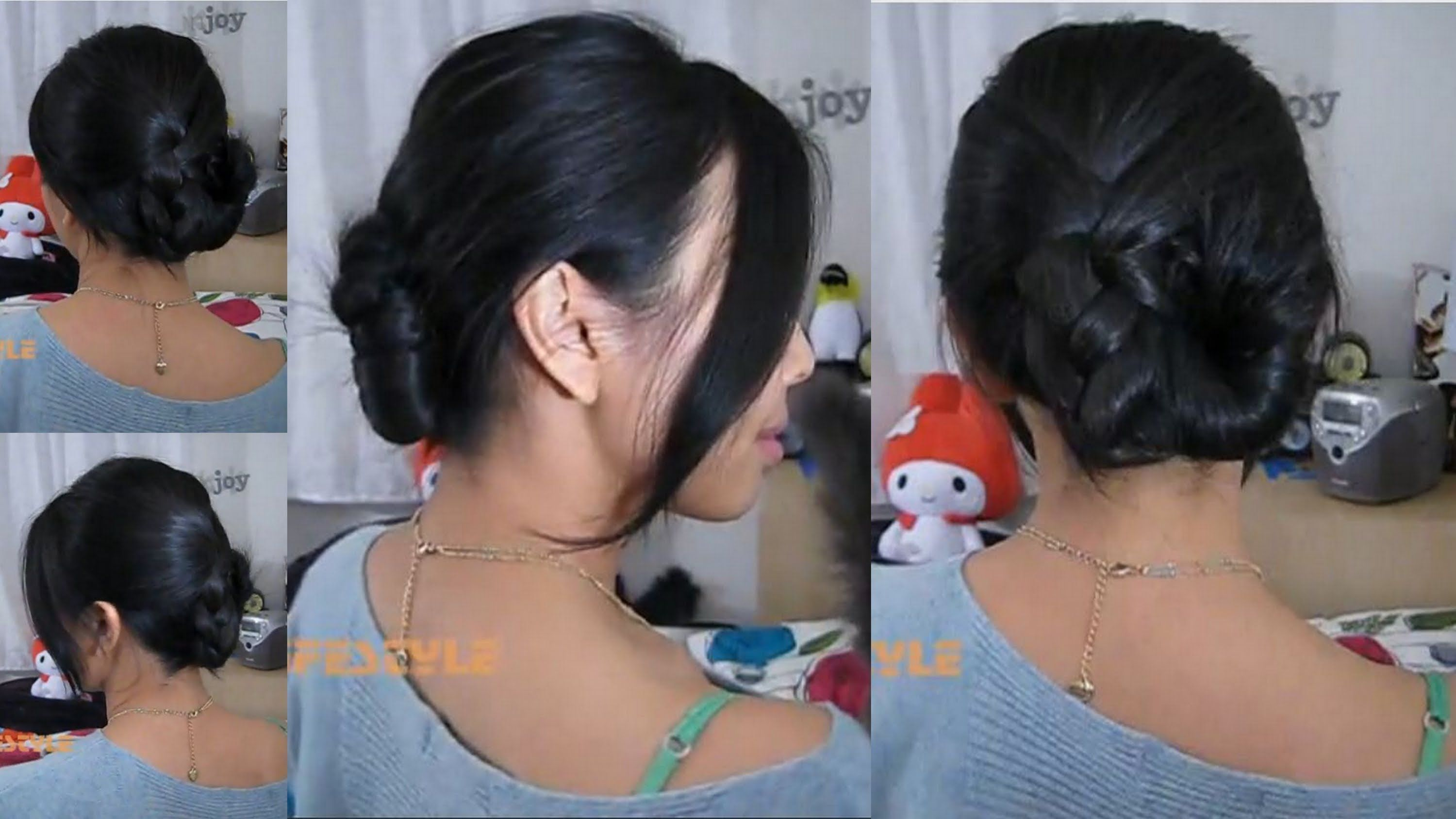 2 minute updo for medium length hair french twist with a twist i have never been able to do a traditional french twist on my super thick hair i find this alternative style to be quite comfortable and long lasting solutioingenieria Images