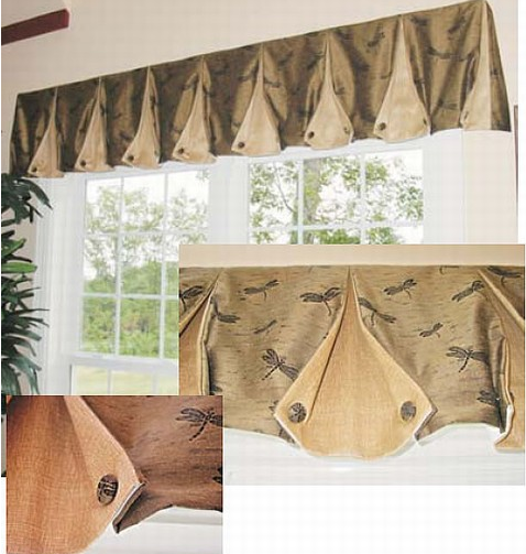 How To Make Box Pleat Valances With Button Back Corners