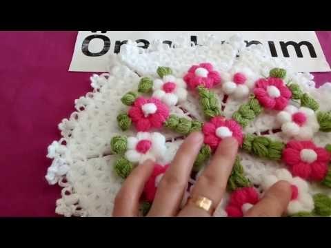 Puf Çiçekli Çilek Lif Modeli Yapılışı Videolu Anlatımlı