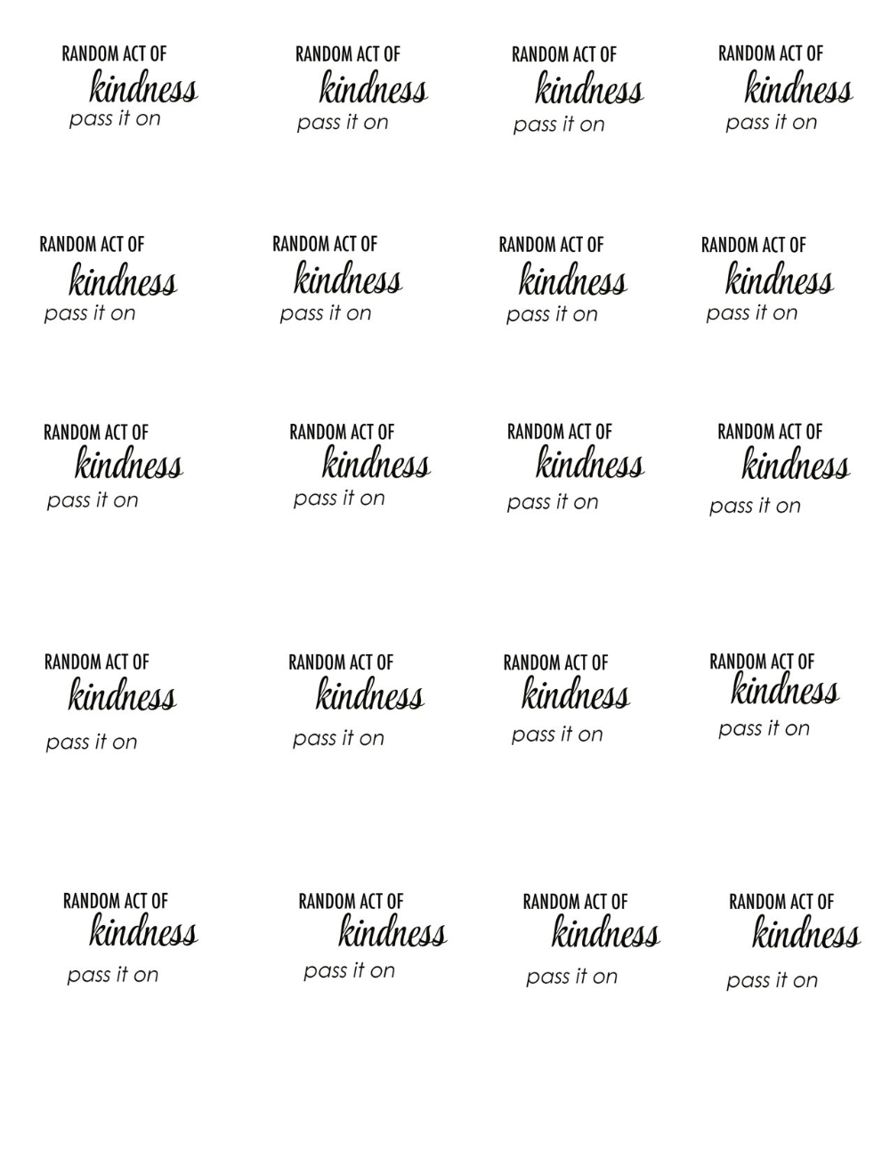 Images Of Acts Of Kindness Template Unemeuf Pertaining To Random Acts Of Kindness Cards Templates 10 Pro Random Acts Of Kindness Card Template The Chic Site