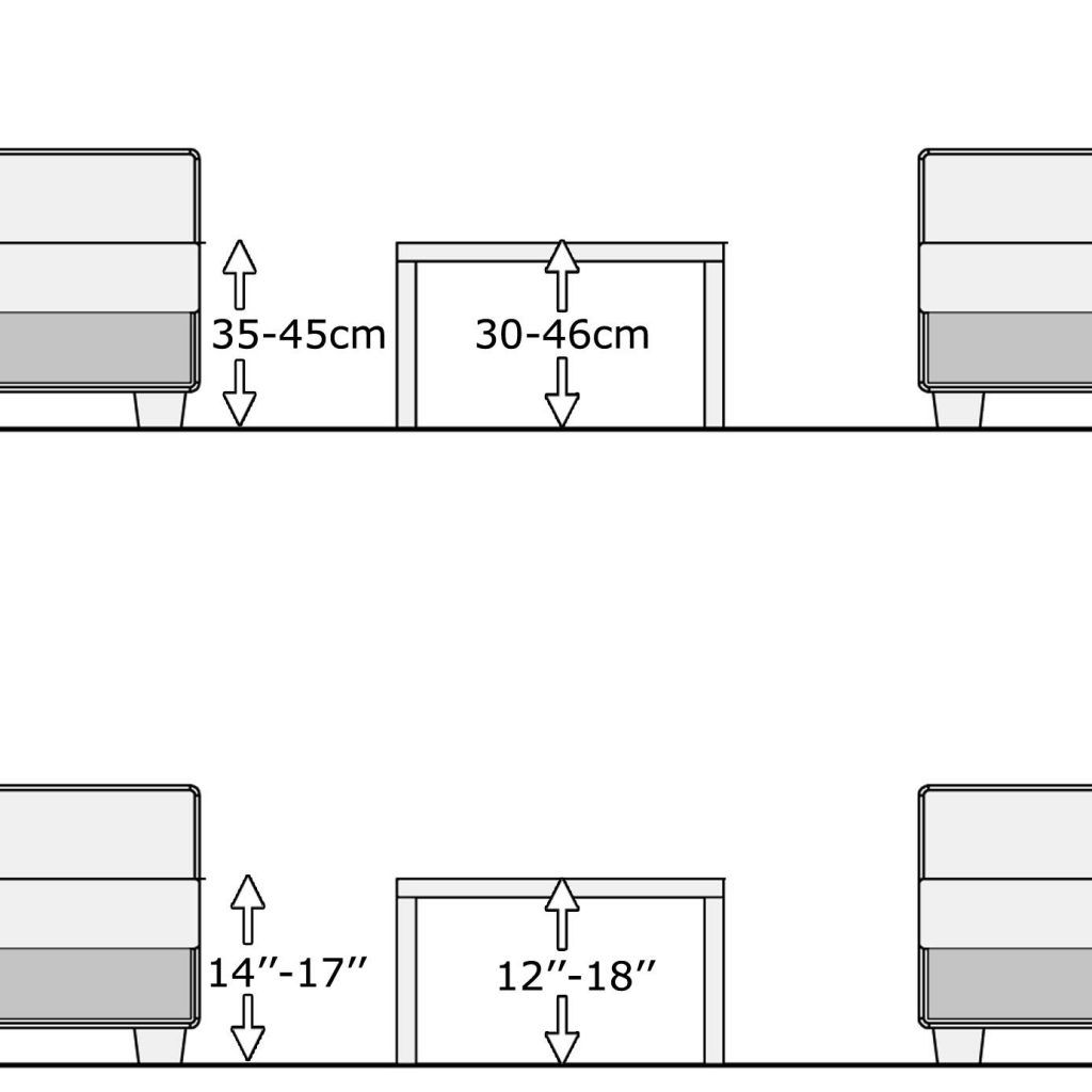 Standard Coffee Table Height Cm