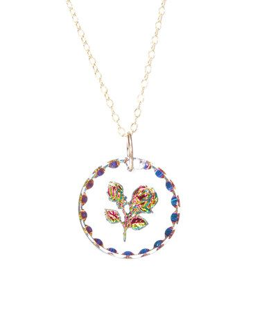 This Bavarian Crystal Rose Round Pendant Necklace is perfect! #zulilyfinds