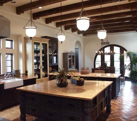 bellacasa spanish kitchen ... Love this open eat in kitchen!