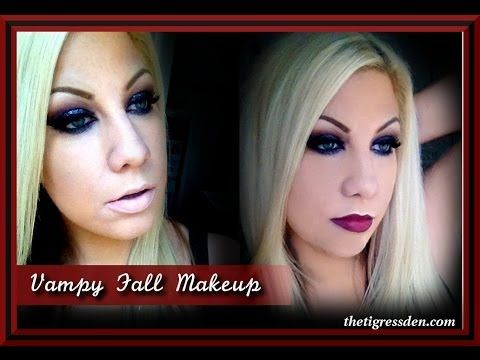 Glittery Vampy Fall Makeup- Perfect for Halloween!