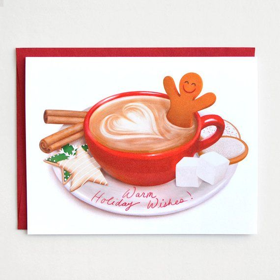 Gingerbread Latte Holiday Card