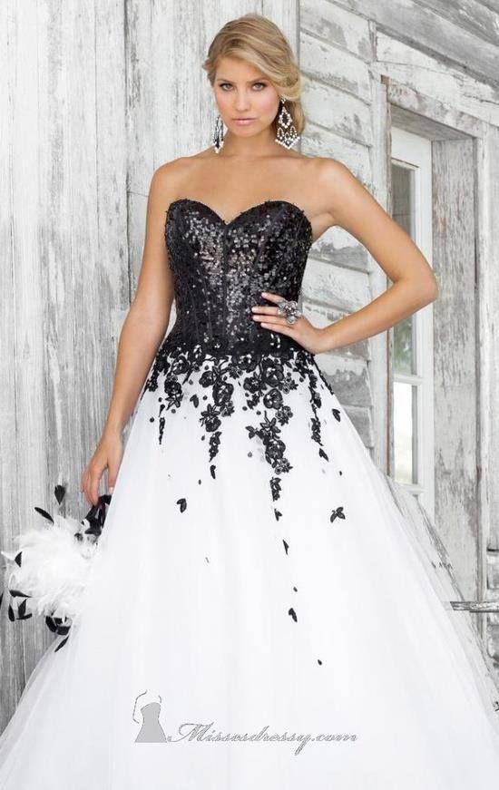 info for 2ede6 1344d abito da sposa in bianco con corpino nero | Wedding Ideas ...