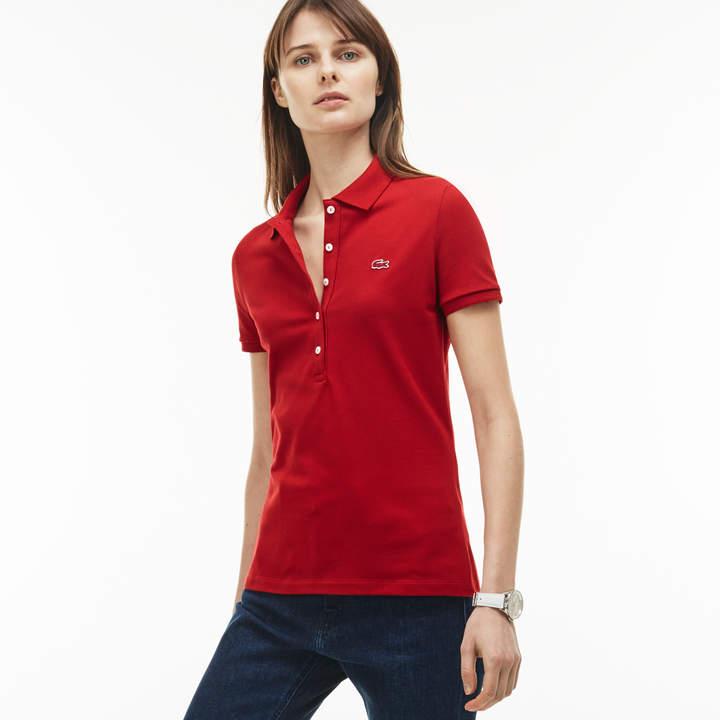 addab919e0 Women's Slim Fit Stretch Mini Cotton Piqué Polo Shirt in 2019 ...