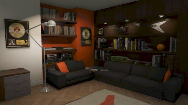 Apartment from gta online i like the decor for ben s living room