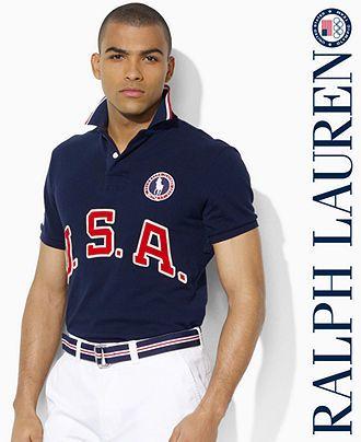 Lauren Usa Mesh Accented Olympic Ralph Polo ShirtTeam AcRjL53q4