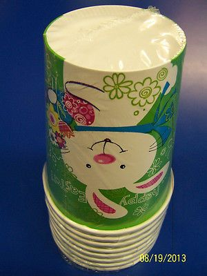 Hoppy #bunny #easter rabbit white cute #theme holiday party 9 oz. paper cups,  View more on the LINK: http://www.zeppy.io/product/gb/2/370935384450/