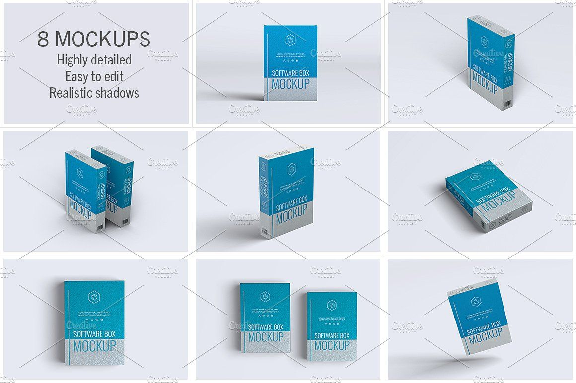 Download Software Box 8 Mockups Freelance Graphic Design Box Mockup Box Software