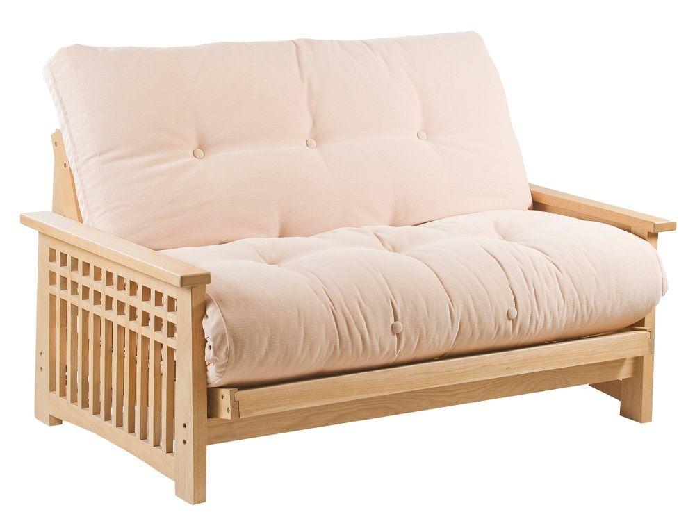 Best Akino Oak 2 Seat Futon Sofa Bed From Futons247 Futon 640 x 480