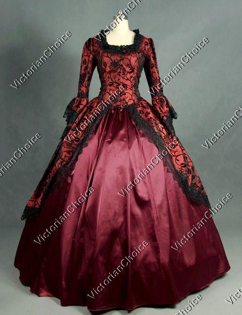 Marie Antoinette Victorian Period Dress Ball Gown Reenactment Theatre Costume Masquerade Dresses Ball Dresses Prom Dresses Ball Gown