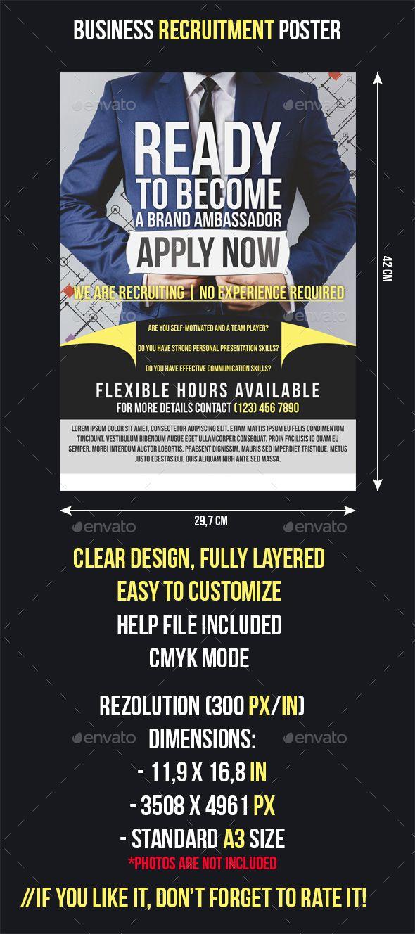Business Recruitment Flyer Flyer Templates Pinterest Flyer