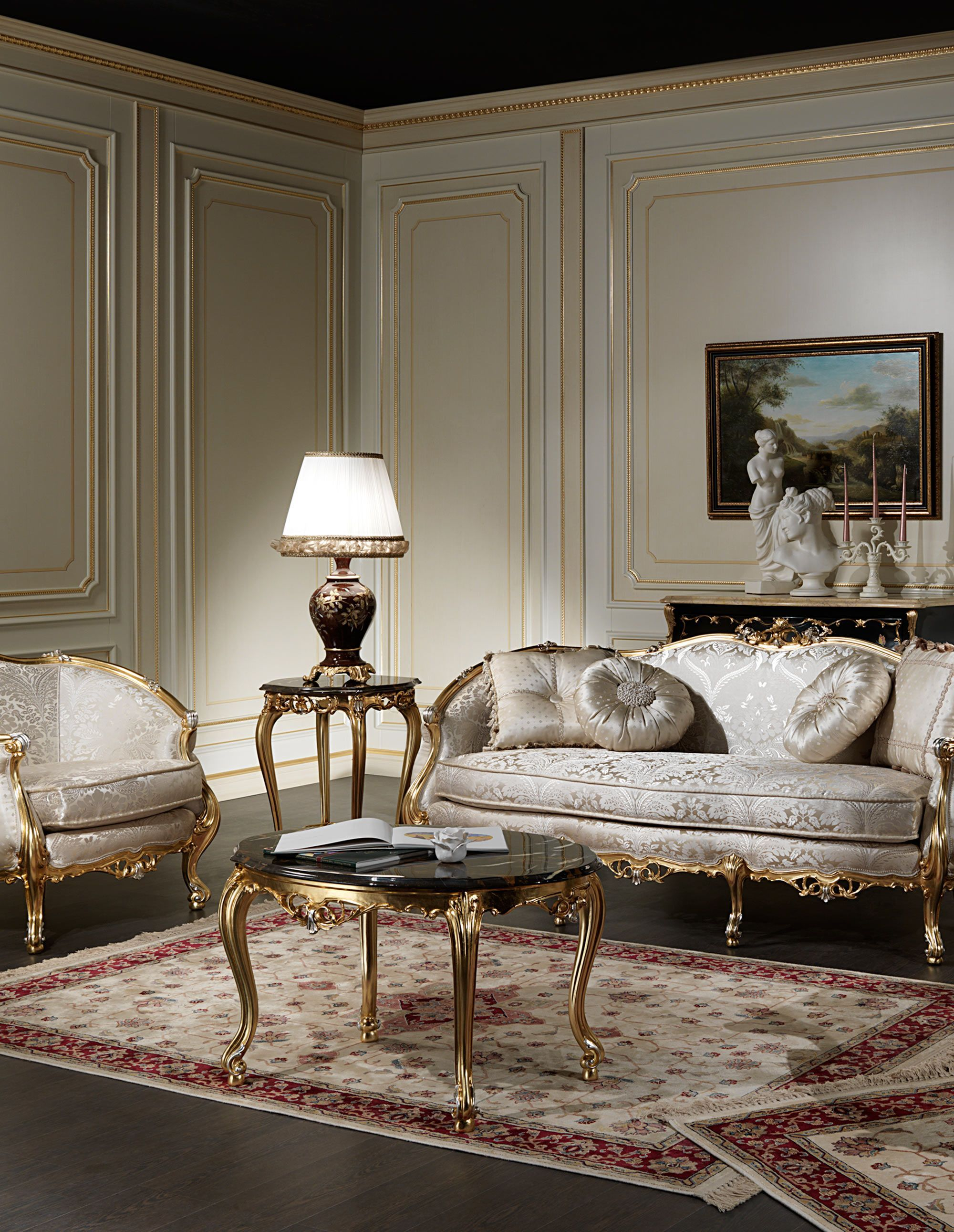 Living Room Gallery Wall: Classic Luxury Living Rooms: The Exclusive Collections Of