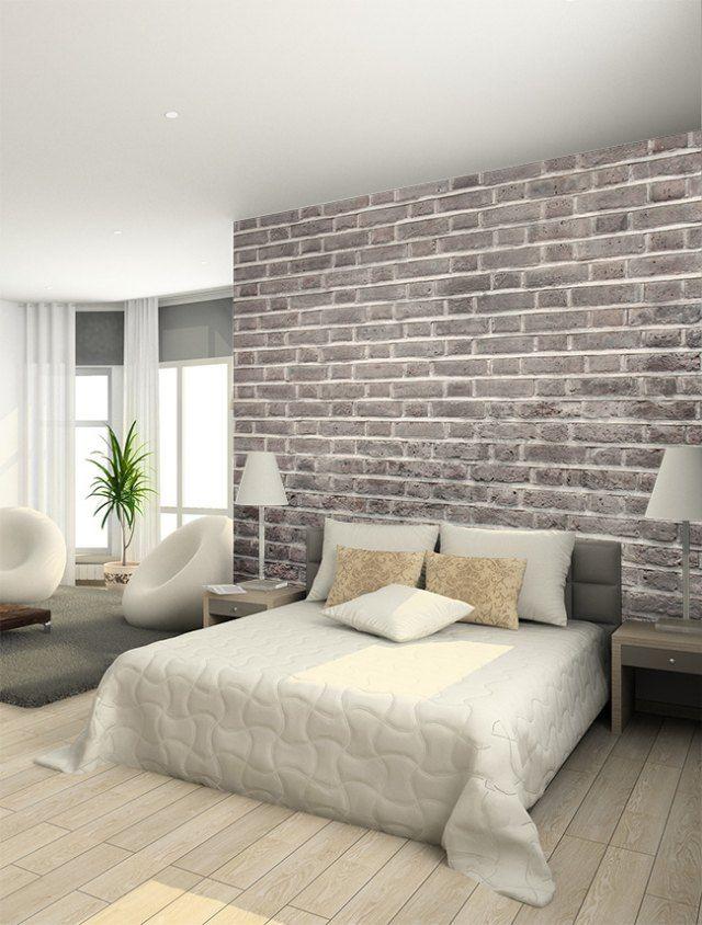 Papier peint trompe l il 33 id es pour embellir maison for Papier peint chambre adulte zen
