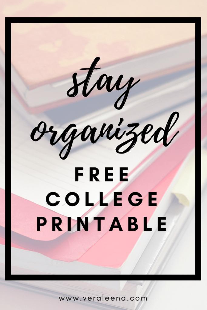 Free Printables - ESSENTIAL FREE PRINTABLES   College Tips