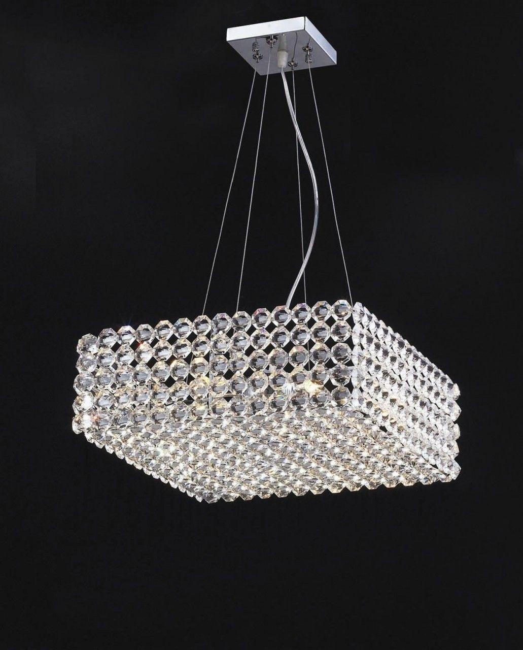 Italian Square Modular Crystal Pendant Designer Chandelier
