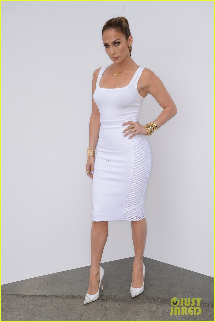fd4ae0095cc Jennifer Lopez Is White Hot in Form-Fitting Outfit on  Idol ...