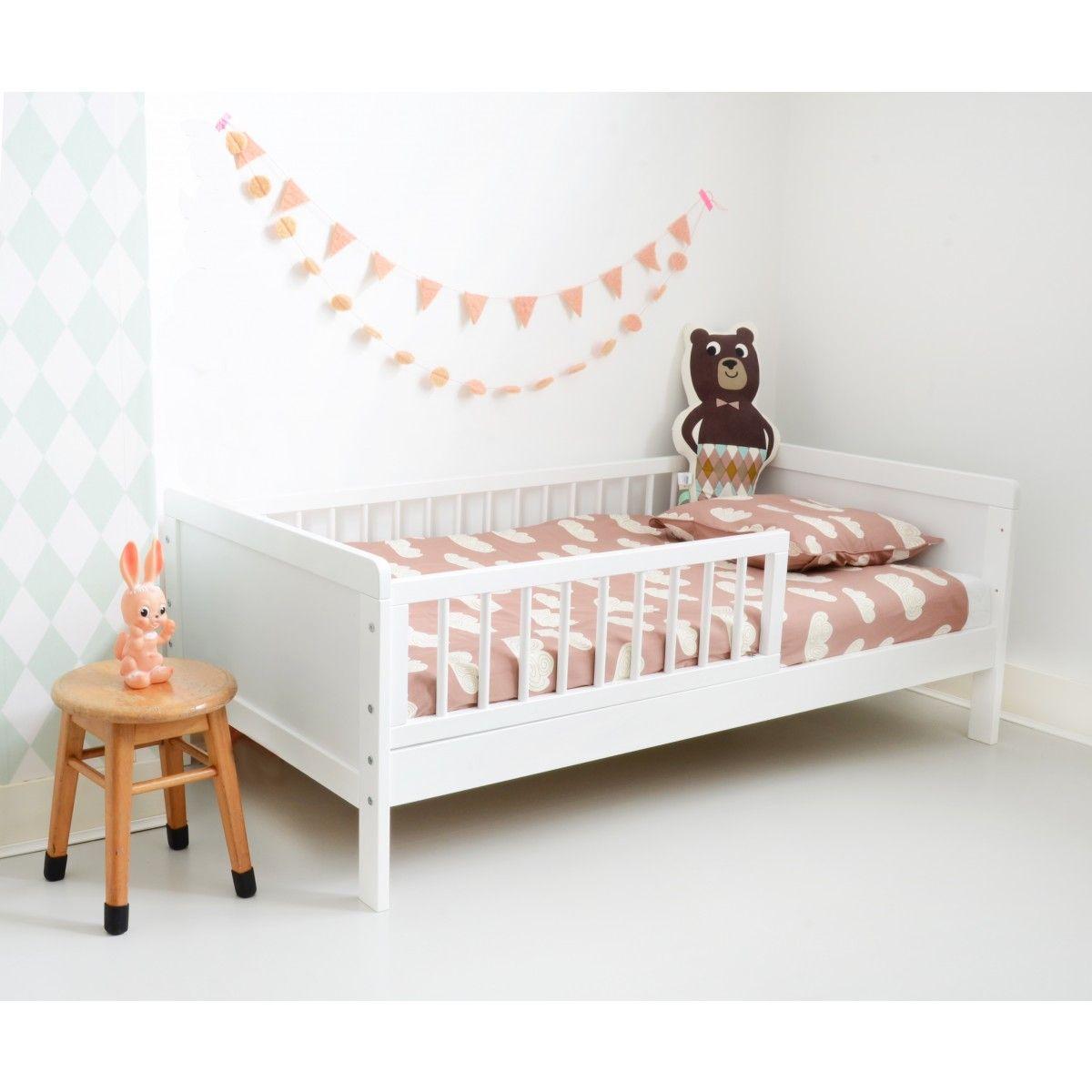 Lit enfant vivien bois blanc petite am lie lits enfants for Lit 70x140 fille