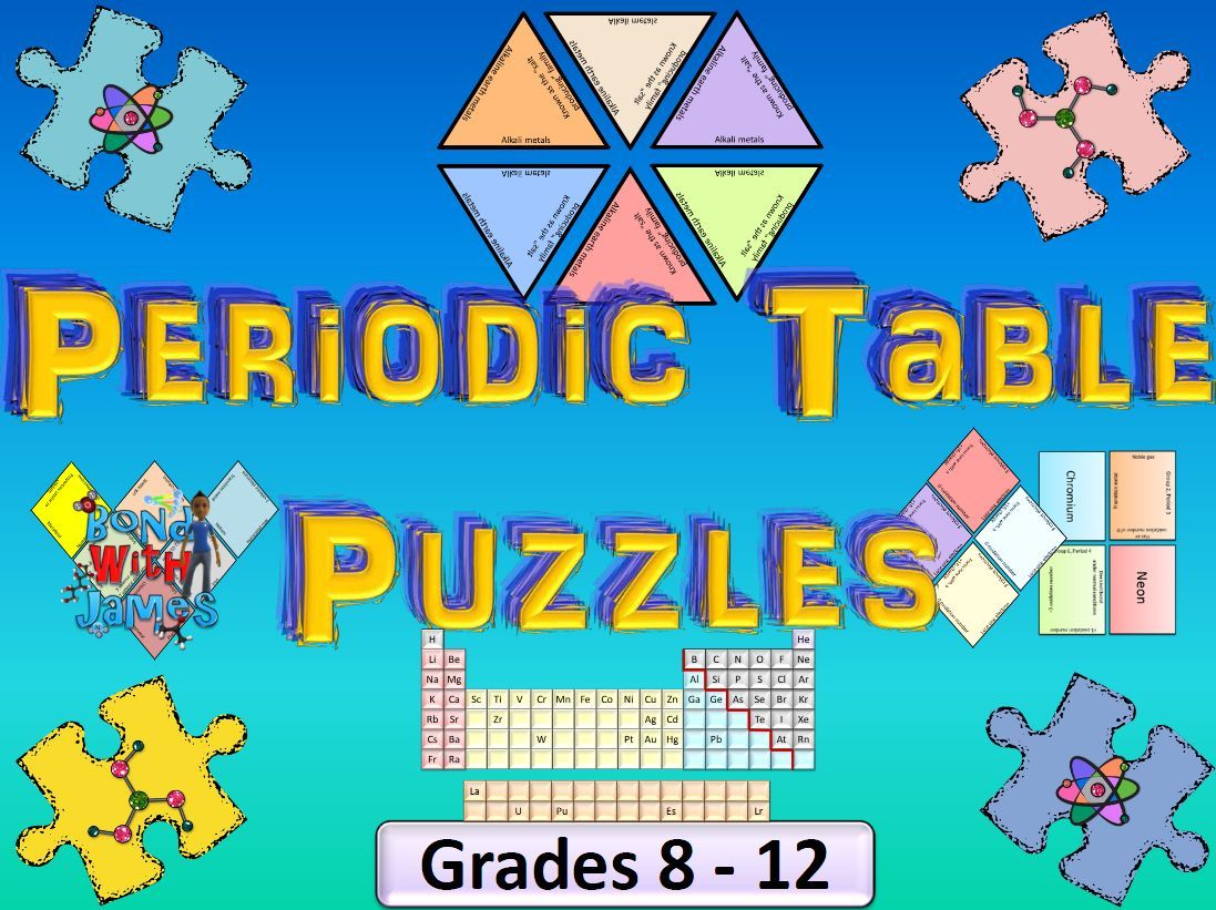 Periodic table tarsia puzzles periodic table chemistry and students interactive way for students to review the periodic table in chemistry gamestrikefo Image collections