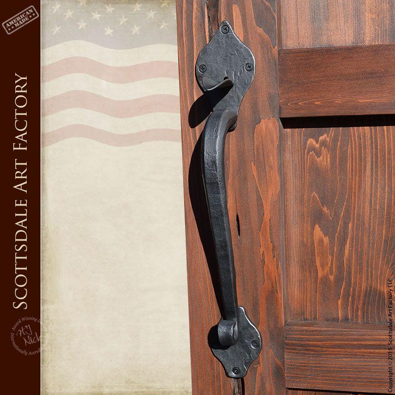 Custom Door Handles - Hand Forged Iron Lever Action - LLP4567 - Iron ...