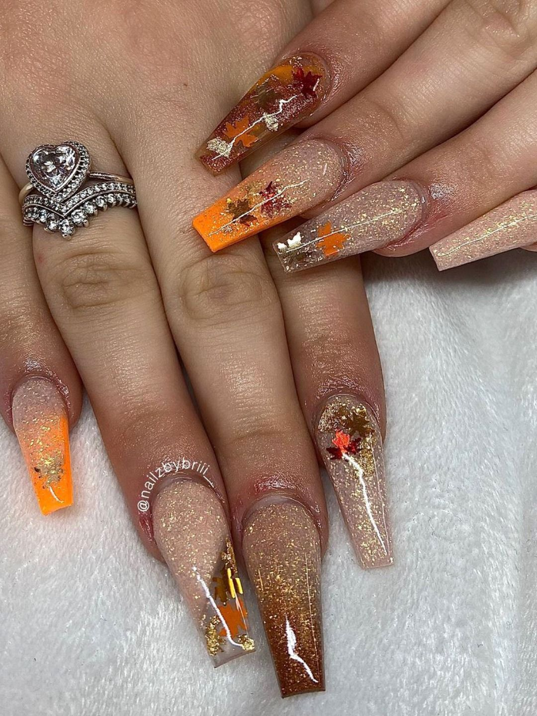 Cute Autumn Nails Acrylic Coffin Long Ideas With Glitter 494903446551281969 Stylish Nails Art Fall Acrylic Nails Coffin Nails Designs