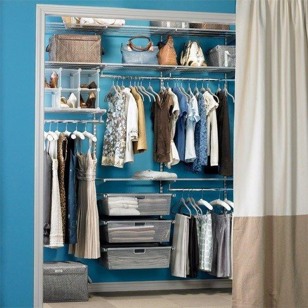 Offener kleiderschrank selber bauen  offener kleiderschrank ideen vorhang vestecken stangen regale ...
