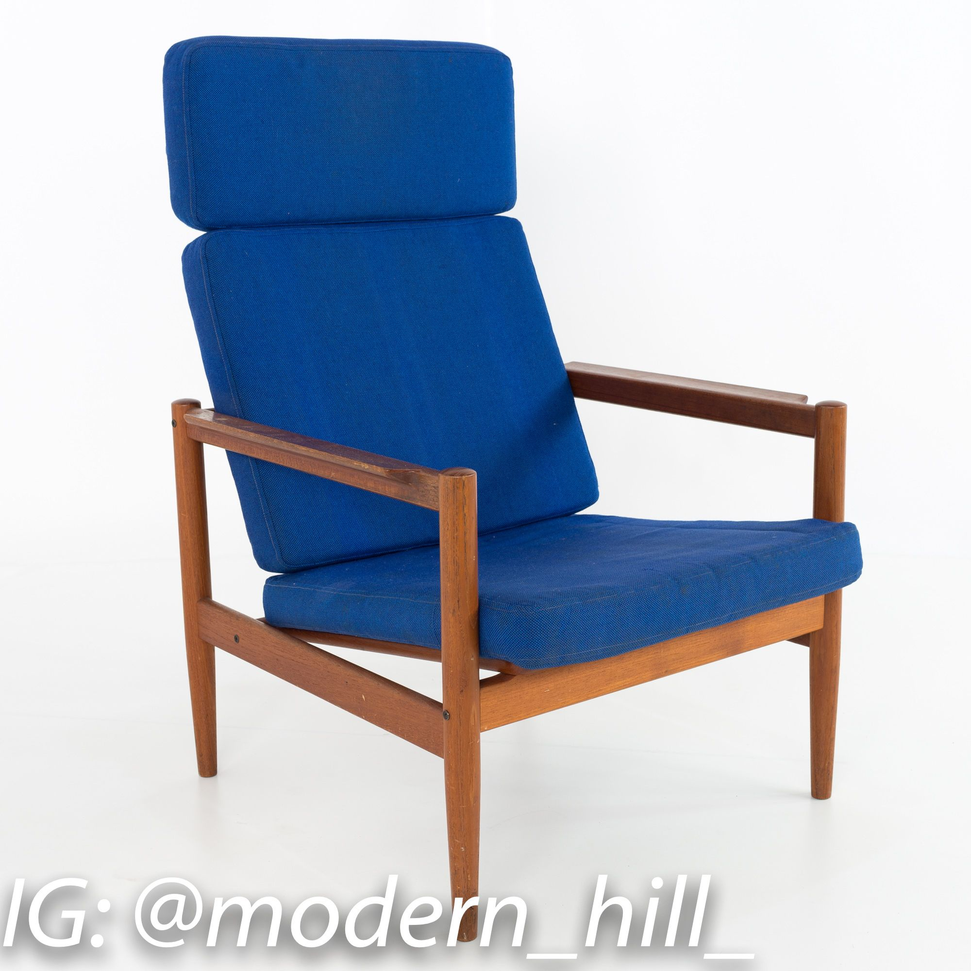 Prime Borge Jensen High Back Danish Mid Century Modern Lounge Bralicious Painted Fabric Chair Ideas Braliciousco
