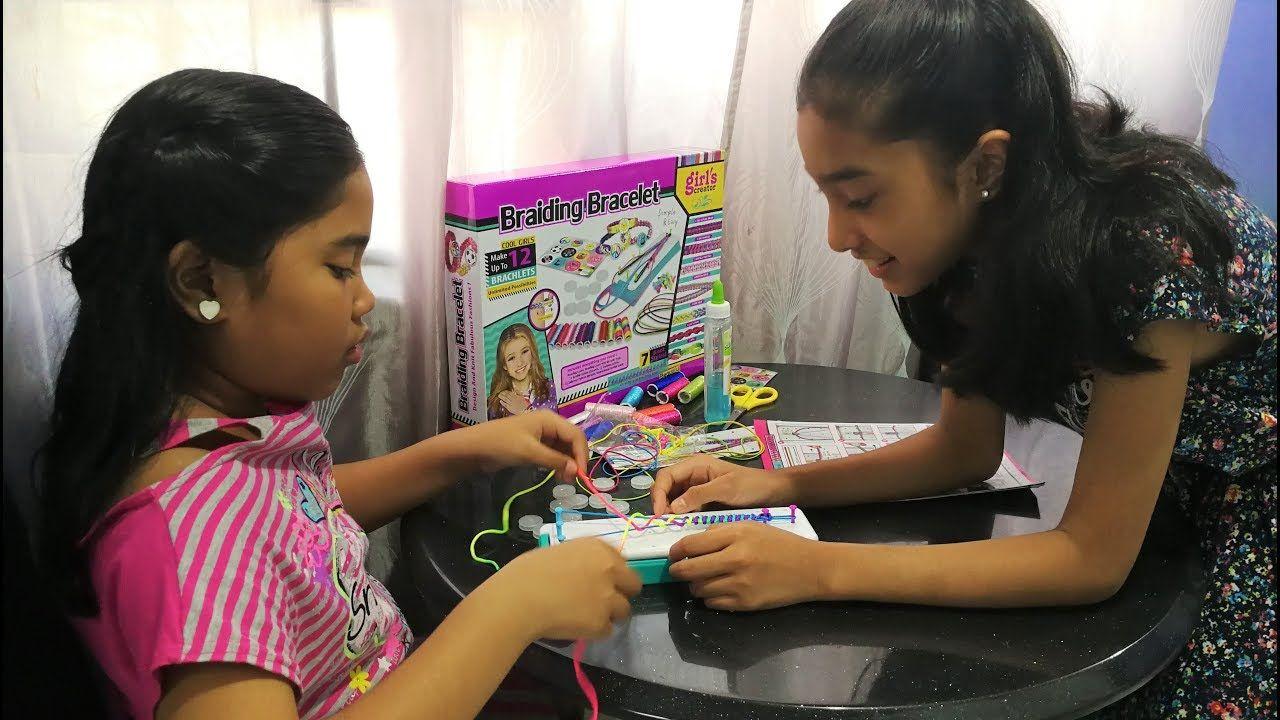 Girls creator bracelet braiding kit braiding bracelet diy toys for kids