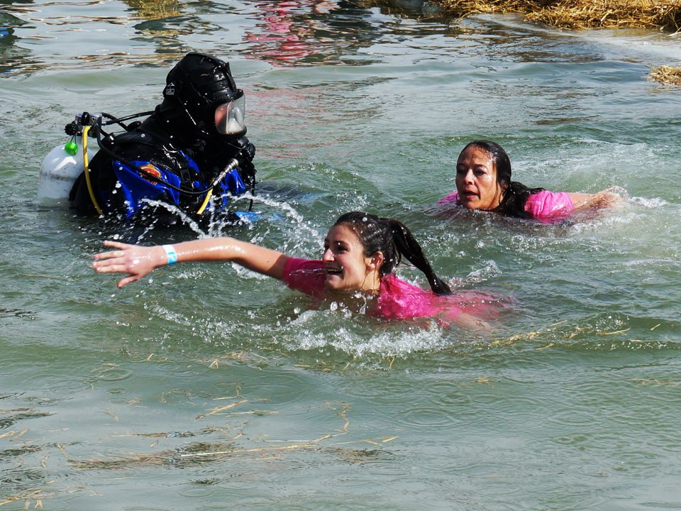 Get me out of here! Polar Plunge 2014. Read about it: http://www ...