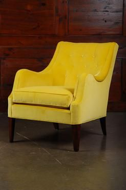 tufted yellow chair big joe brio landau in velvet furniture pinterest and american antique finish decorative buttons springdown cushion choose from a variety of fabric options com