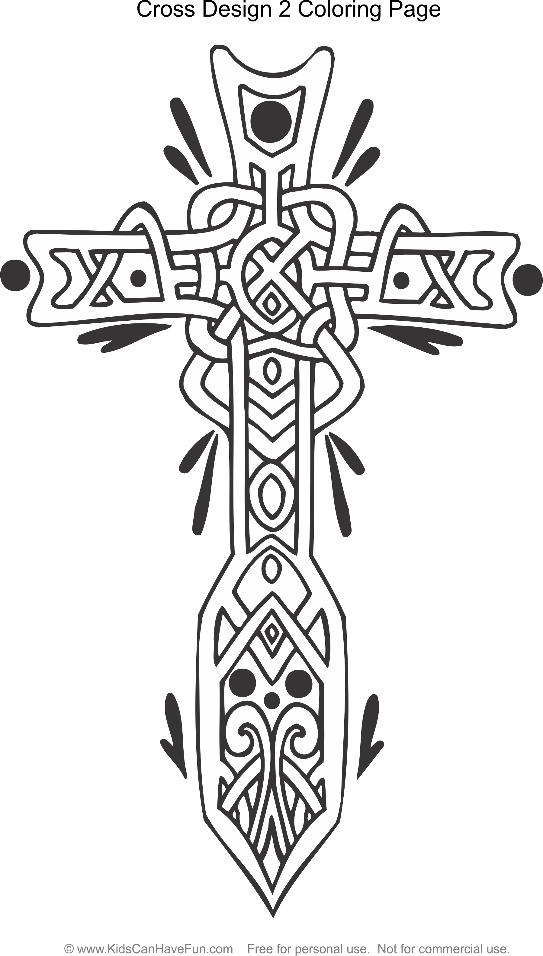 Coloring pages crosses - Celtic Cross Design 2 Coloring Page